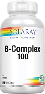 Solaray® Vitamin B-Complex 100   Supports Healthy Hair & Skin, Immune System Function, Blood Cell Formation & Energy Metabolism   250 VegCaps