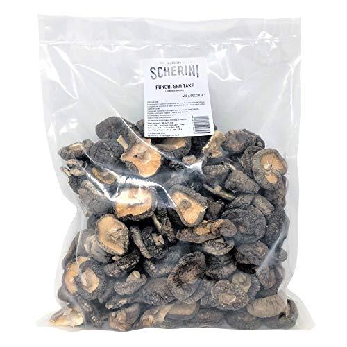 Scherini Valtellina – refinados hongos Shiitake deshidratados para buenos gustos, 450g