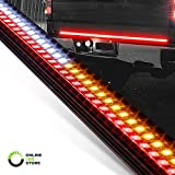 49' LED Tailgate Light Bar for Trucks [Rigid Aluminium Frame] [Amber Sequential Turn Signal] [Tail & Reverse Light] [IP66 Waterproof] Rear Truck Tail Under Tailgate Brake Light Bar for Cars Trailer