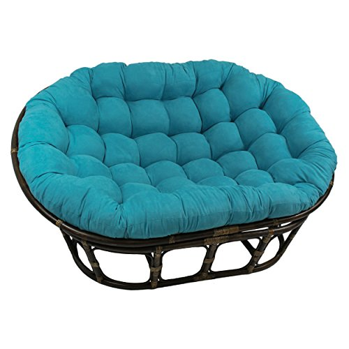 Blazing Needles Solid Microsuede Double Papasan Chair...