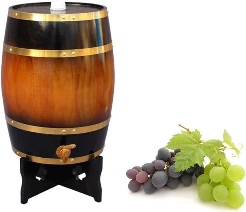 barril de vino de madera Roble Barrica Envejecimiento Barril, Tanque de almacenamiento de roble con Relleno de papel de aluminio incorporado, Adecuado para tu propio Whisky Cerveza brandy Tequila (10L