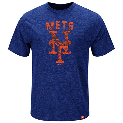 Majestic MLB T-Shirt New York NY Mets Hours and Hours Baseball (S)