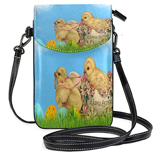 XCNGG Kleine Geldbörse Easter Card Chicks Cell Phone Purse Wallet for Women Girl Small Crossbody Purse Bags