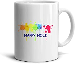 KDIHADGH Holi hai The Festival of Color White Mom Cup White Mugs