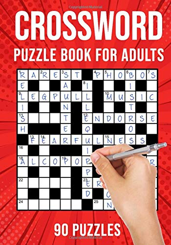 Crossword Puzzle Book for Adults: Quick Daily Cross Word Activity Books | 90 Puzzles ( UK Version)