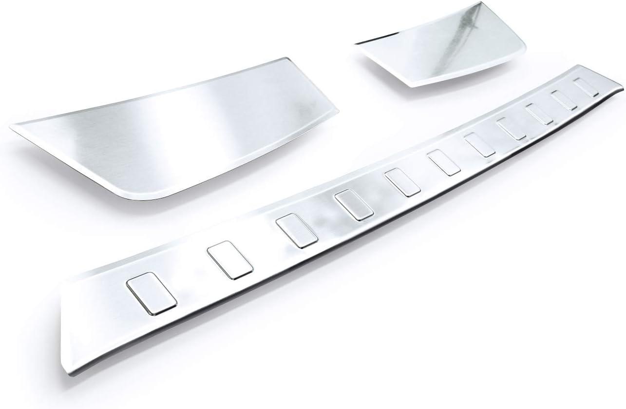 Teileplus24 L627 Ladekantenschutz V2a Edelstahl Für Opel Grandland X 2017 Abkantung Farbe Silber Gebürstet Auto