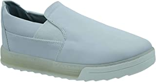 حذاء جلد نوباك صناعي سهل الارتداء بطرف دائري واستك جانبي للرجال من زيرو 3