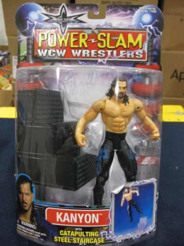 WCW POWER SLAM WRESTLERS- KANYON WITH CATAPULTING STAIRCASE