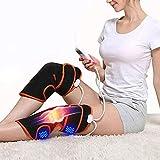 SIRENK Masajeador de piernas, pie de Pierna y máquina de masajeador de pantorrillas para la Pierna inquieta del músculo del Dolor de Alivio de la Rodilla de la Rodilla (Color : Black)