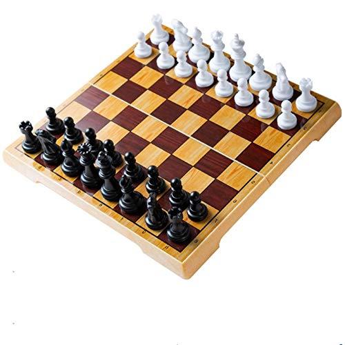 YAOHONG Schach-hochwertiges magnetisches hochwertiges Trompeten tragbares Mini-Faltenschachbrett (Color : B)
