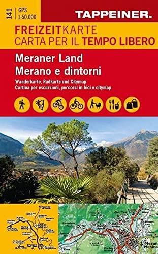 Freizeitkarte und Freizeitführer Meraner Land: Meran Ulten Passeiertal Meraner Höhenweg Lana Dorf Tirol Schenna Texelgruppe Spronser Seen Hirzer ... Führer / Carta per il tempo libero con guide)