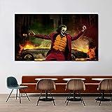 ganlanshu Pintura sin Marco Arte Payaso póster de película y lienzos Sala de Estar Dormitorio Arte Mural Pintura Decorativa modernaZGQ5210 30X50cm