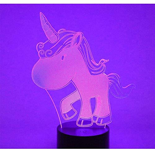 Luce Notturna 3D , Unicorno , Lampada Per Decorazioni Da Ufficio Regalo Di Compleanno Regalo Di Natale Lampada Da Notte Giocattolo Per Bambini Lampada Da Tavolo A Colori Per Bambini 7.