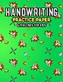 Handwriting Practice Paper With Lines For Kids: Galaxy Starry Handwriting Practice Paper With Dotted Lined Sheets for Kids, Kindergarteners, Preschoolers, And toddlers