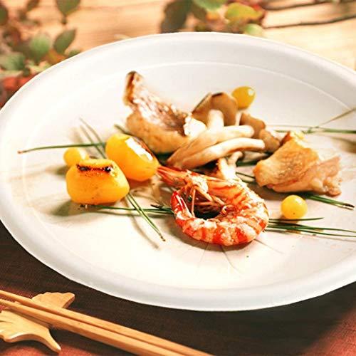 YC-Einweg-Brotdose Umweltfreundliches Dickes Einwegpapierfach, Haushaltsgeschirr, runde Platte, abbaubares Geschirr [50er Pack] (Größe : 15.5x15.5cm)
