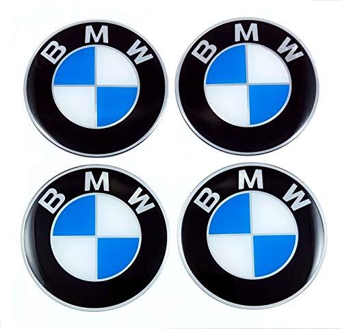 4 Pegatinas con Logotipo de 60 mm para Llantas de BMW.