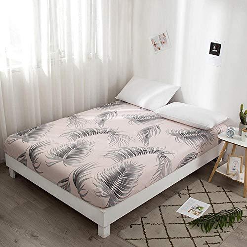 Amswsi Lenzuolo Nordic Beauty-Foglia Grande_90 * 190 + 15 cm