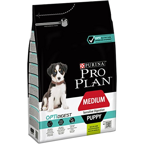 PURINA PRO PLAN Medium Puppy Welpenfutter trocken mit OPTIDIGEST, reich an Lamm, 1er Pack (1 x 3kg)