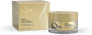 Q77+ Crema hidratante regeneradora facial | Con Ácido Hialurónico Manteca de Carité y Aceite Rosa de Mosqueta | 50 ml