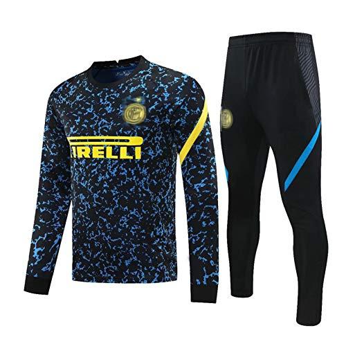 LTTL MǐLǎNO 2021 RǒNǎLDO Football Jersey Fussball Trikots Set High Hals Langarm Trainingsanzug Training Sportswear Professionelle Team Uniform, lässig tägliche Übung XL