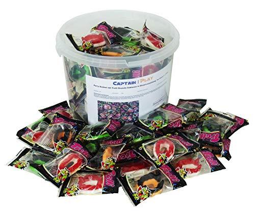 CAPTAIN PLAY | Halloween Candy | Trolli Dracula Gebisse Zähne aus Fruchtgummi in Einzelverpackung | 67 Stück