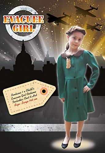 Bristol Novelty Costume de fille évacuée, Large