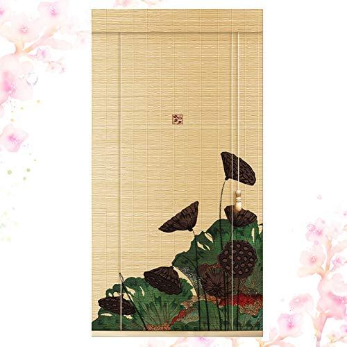 LIANGJUN bamboe gordijn rolgordijn rolgordijn Romeinse venster tinten opknoping foto partitie huisdecoratie ademende thee kamer met trekkoord bediening, aanpasbaar