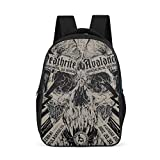 <span class='highlight'><span class='highlight'>Knowikonwn</span></span> Backpacking Backpack Fashion Teen School Backpack School Bag Girls Teenager Daypack Men Laptop Backpack Skull Grey Grey One Size