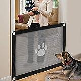 NAMSAN Cancelli per Cani Cancello Sicurezza Cani Scale Cancelli per Animale Domestico Facile da Installare da Interno 80x100