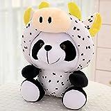 YIGUBIGU Douze Poupée De Panda De Zodiaque Peluches Jouets National Trésor Géant Poupée Panda Cadeau D'Anniversaire des Enfants 40 cm Vache
