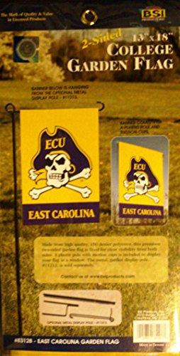 East Carolina Pirates 2-sided GARDEN Window Flag NEW LOGO Banner ECU University of