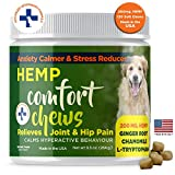 Calming Chews for dogs with Hemp Organic and Natural Dog Treats Made In The USA Formulated For Composure & Dog Anxiety Relief From Stress Fireworks Thunder Separation Motion Sickness Ginger & Omega 3