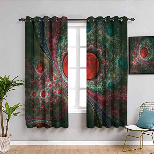 Pearls Decoration Room Darkened Curtain Round Circle Object Motifs Sphere Forms Vintage Medieval Design Pearls Oyster Dark Print Easy to Clean W63 x L63 Inch Multi