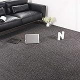Carpet Tiles Commercial Carpet Tiles Carpet Floor Tiles Carpet Tile 20x20inch for Bedrooms Living Rooms Kids Rooms Office Decor with Anti-Slip Asphalt Bottom Backing Dark Grey 32Tiles