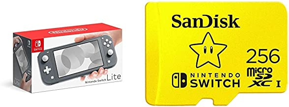 Nintendo Switch Lite - Gray with SanDisk 256GB MicroSDXC UHS-I Card for Nintendo Switch