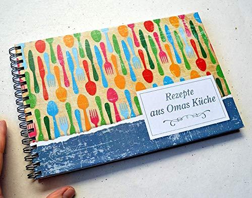 Rezeptbuch DIN A5 Rezepte aus Omas Küche Vintage Style