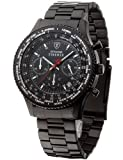 Detomaso SM1624C-BK Orologio da Polso, Cronografo da Uomo, Cinturino in...