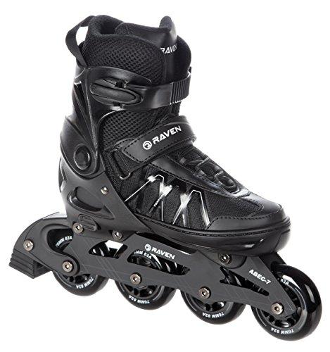 Raven Inline Skates Inliner Expert Black verstellbar (40-43 (25,5-27,5cm))
