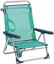 Alco Fibreline strandstoel met handvat van aluminium 606ALF-30
