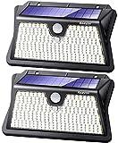 Reayos Solar Lights Outdoor, Upgraded Optics Lens Solar Security Lights, 【283LED/3 Modes】Solar PIR Motion Sensor Lights, IP65 Waterproof Outside Powered Solar Wall Lights for Door Fence Garden[2 Pack]