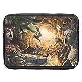Cheshire - Funda para ordenador portátil, diseño de Alicia en el País de las Maravillas, Black, 13' (33 cm),