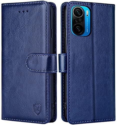 FMPCUON Hülle für Xiaomi Poco F3 Handyhülle [Standfunktion] [Kartenfach] [Magnetverschluss] Tasche Flip Hülle Schutzhülle lederhülle flip case für Xiaomi Poco F3 Blau