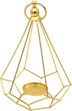 MagiDeal Geometric Diamond Shaped Alloy Framed Tea Light Candle Holder Candlestick for Cafe Bar Hanging Decor Photo Props ...