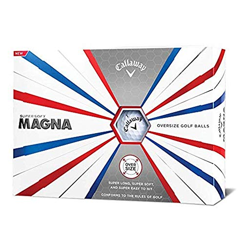 Callaway Golf 2019 Supersoft Magna Golfbälle, Herren, Supersoft Magna 19 Golf Ball, weiß