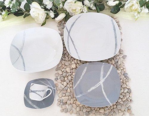 Servizio piatti porcellana 38 pezzi per 12 persone 407 sandy GRIGIO