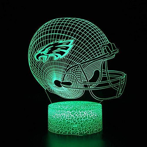 szzyxydd 3D Lampe 3D Illusion Lichter Led Schlafzimmer Lichter Nachtlichter 7 Farben Touch Switch Kinder Weihnachten Halloween Geburtstagsgeschenke Football-13