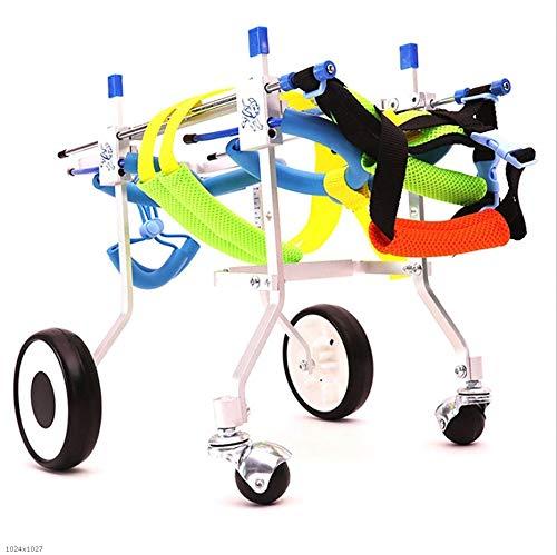 ZH1 huisdier tas hond rolstoel, huisdier bromfiets hond gehandicapte auto achterbeen hulpbeugel grootte kan worden aangepast vrij ondersteuning revalidatie huisdier fietsen, XL