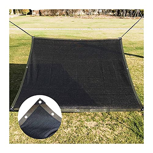 ZHANWEI Paño De Sombra, Espesar Polietileno Protección Solar 90% Red Sombreado, Jardín Gazebo Piscina Uso Al Aire Libre Valla Privacidad, con Ojal Personalizable (Color : Black, Size : 4mx6m)