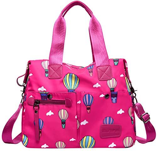 Women Waterproof Cloth Handbag Goosun Anti Splash Water Shoulder Messenger Crossbody Bags Holiday Travel Weekender Tote Bag Handbag Floral Stripe Print  ~Prime Day