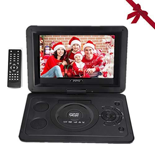 Reproductor de DVD, TV HD de 13.9 Pulgadas Reproductor de DVD portátil para automóvil con Pantalla LCD giratoria, Entrada/Salida AV, Radio FM Soporte de batería Recargable Tarjeta SD CD (EU)